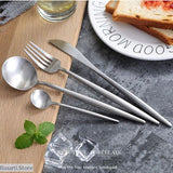 Stainless Steel Cutlery Dinnerware 24pcs Set - Silver - 100003310