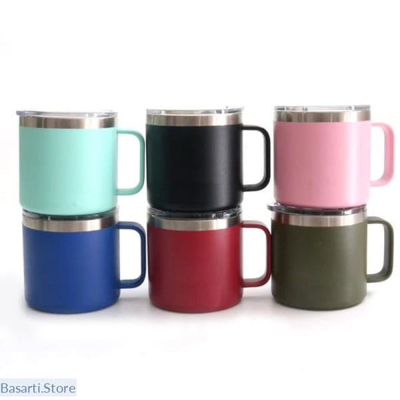 Stainless Steel Vacuum Insulated Coffee Mug with Lid - 100003290