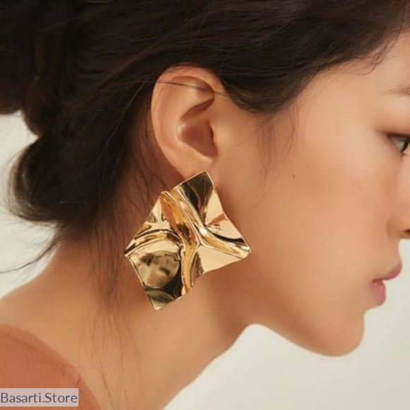 Super Luminous Light Statement Modern Earrings - gold color - Light Statement Earrings