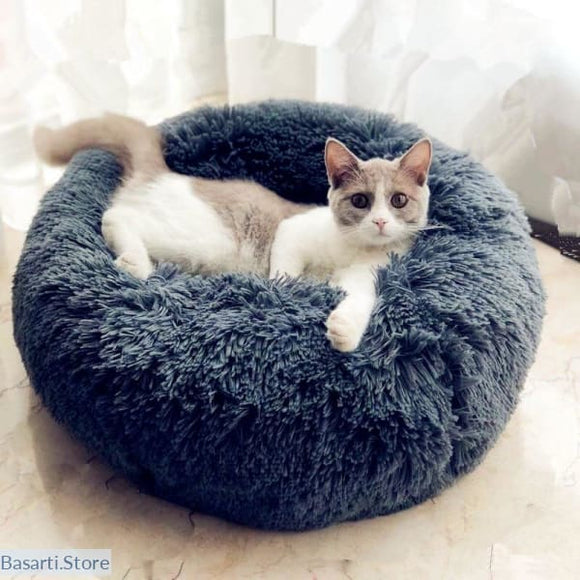 Super Soft and Comfy Round Plush Cat or Dog Bed - 200003700