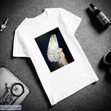 Surreal Bird-Woman T-Shirt (3 Different Image Styles) - S / 5 - Surreal Bird-Woman T-Shirt