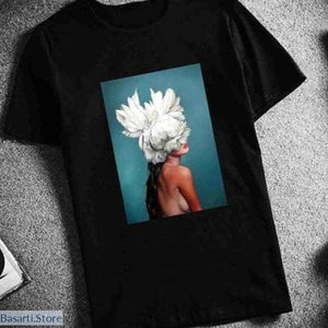 Surreal Flower-Woman T-Shirt (3 Different Image Styles) - Surreal Flower-Woman T-Shirt