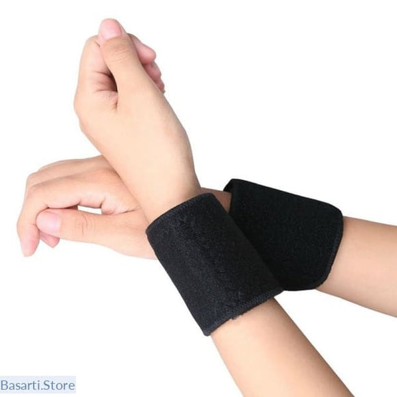 Tourmaline Self Heating Wrist Band Far Infrared Magnetic Therapy Heating Pads - Wellness FIR