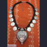 Tribal Boho Heart Pendant Necklace - Southeast India - tribal necklace