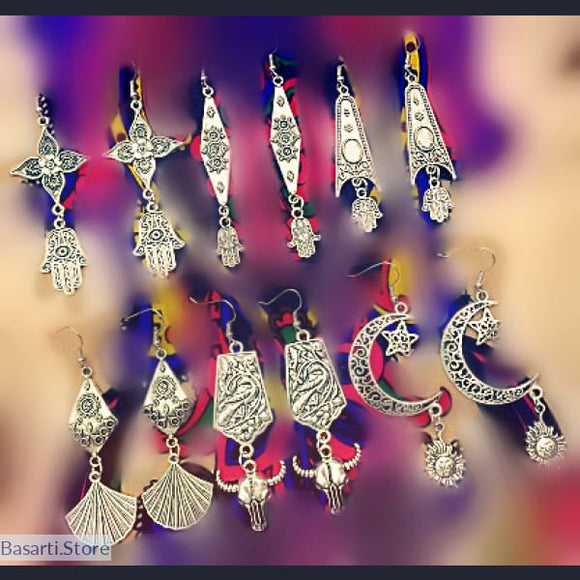 Tribal Drop Earrings from Rajasthan - tribal earrings