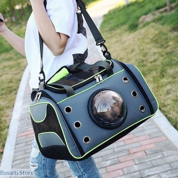 Unique Cat or Small Dog Space Capsule Shaped Pet Carrier. 2 Sizes Available. - G / L