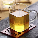 Unique Square Glass Tea Cups 6pcs - 100003290