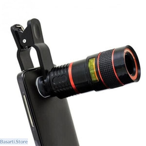 Universal 8X 12XOptical Zoom Telescope Camera Lens Clip Mobile Phone Telescope For iPhone & Samsung - Gadget