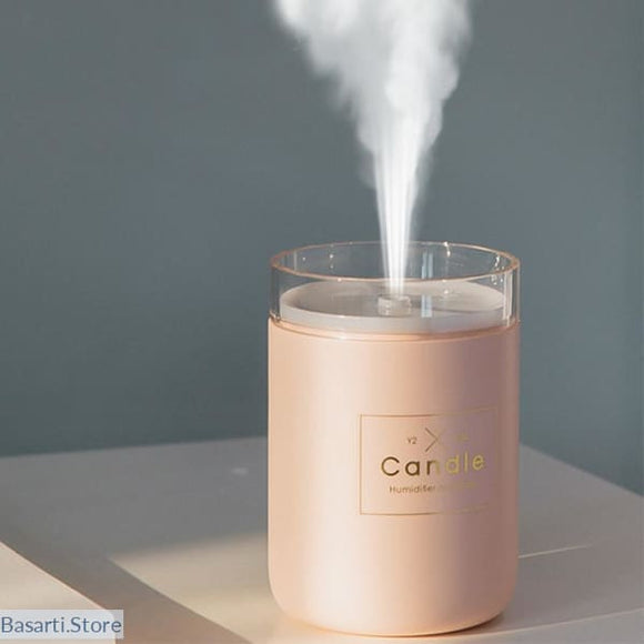 USB Diffuser Candle Air Humidifier with Night Lamp Light - 625