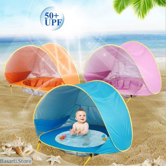 UV-Protecting Sun-Shelter Beach Tent for Babies - 100001790