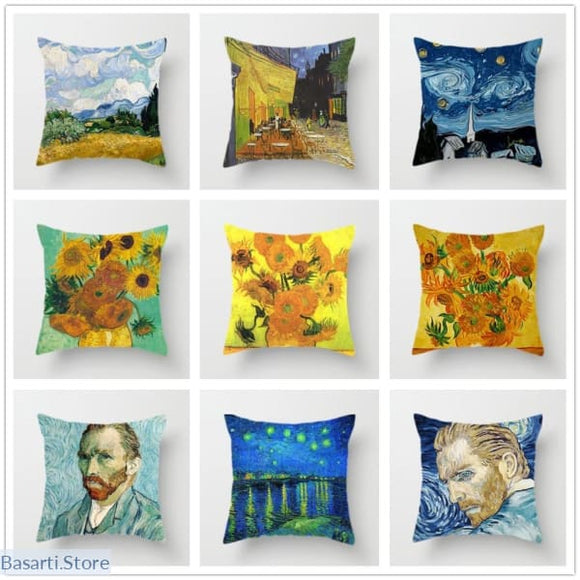 Van Goghs Oil Painting Cushion Pillow Covers - 40507