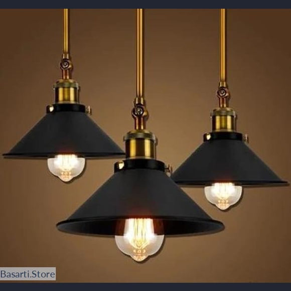 Vintage Industrial Wall or Ceiling Mount Adjustable Pendant Lamp - 200001064