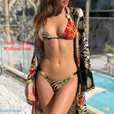 Vintage Push Up Multi-Color Bikini - S / 1384-1 - bikini
