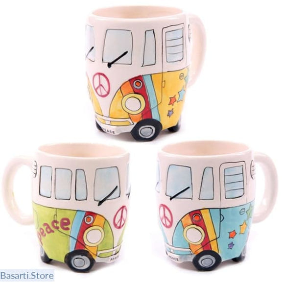 VW Camper Van Ceramic Hippie Coffee Mugs - 100003290