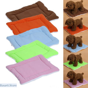 Warm Soft Fleece Pet Dog Cat Bed Mats - pet