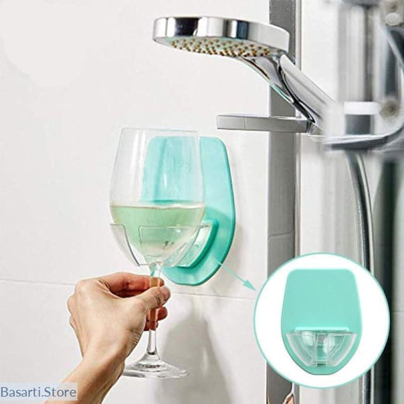 Wine Glass Holder For The Bathtub - wine glass holder