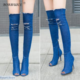 Winter Over the Knee High Stretch Boots - 200001012