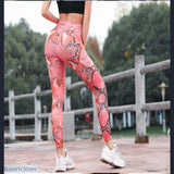Women Fitness: Snake Skin - High Waist Push Up Leggings - Snake leggings 7 colors