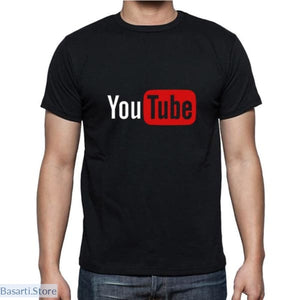 YouTube Cotton Short Sleeve Summer T-Shirts - 200000783