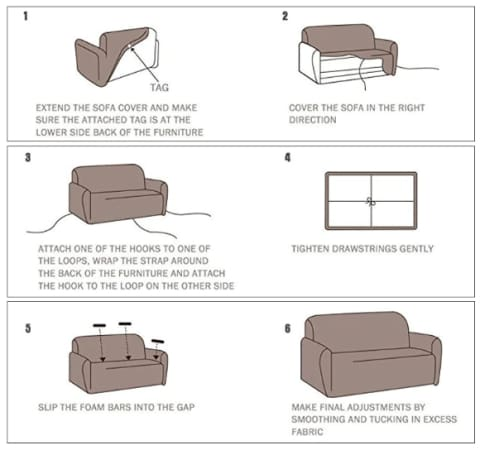 Durable and Beautiful Elastic Stretch Sofa Slipcovers for Most All Couches and Arm Chairs