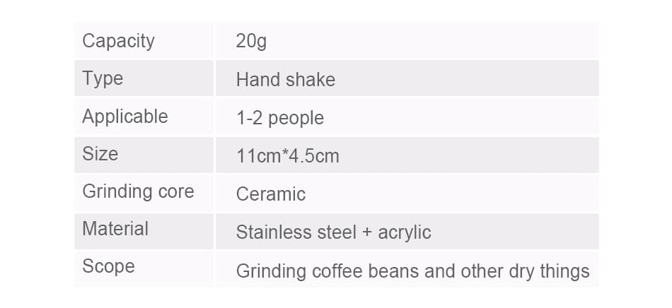 Mini Manual Coffee Grinder With Transparent Body