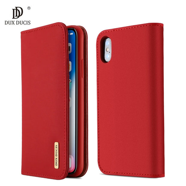 100% Genuine Luxury Flip PU Leather Silicon Case For IPhone Xs Case Protective Phone Bags Cover For IPhone X Wallet Case Coque
