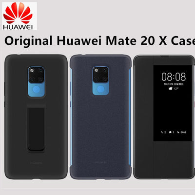 100% Official Original Kickstand Stand Cover For Huawei Mate 20 X Case Smart View Window Flip Leather Cover