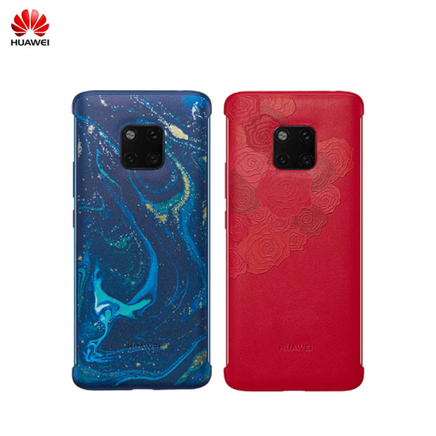100% Original Official HUAWEI Mate 20 Pro Case PU Leather Protection Back Cover Mate20 Pro Case