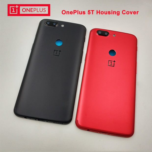 100% Original OnePlus 5T Back Battery Cover Case Aluminum Housing Rear Door Case Replacement ,with Lens Glass+Sim Card Slot+Keys