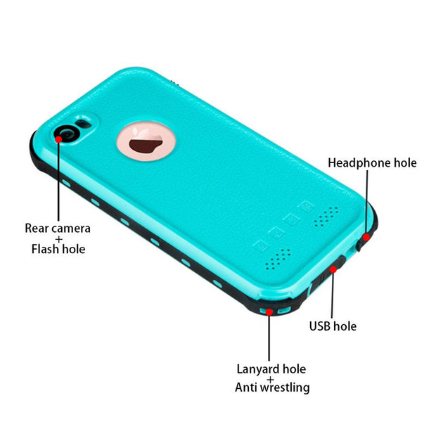 100% Sealed Waterproof Case For Iphone 6 6sPlus Underwater Swimming Dive Cases For Apple IPhone5 SE Snow Proof Cover For IPhone