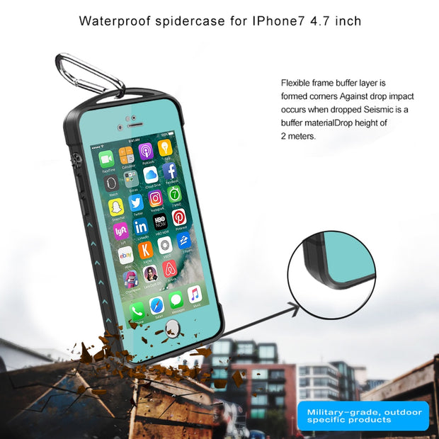 100% Sealed Waterproof Mobile Phone Case For IPhone 7 4.7 Inch Purple Apply To Swim Surfing Under Water Sports