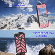 100% Sealed Waterproof Mobile Phone Case For IPhone7 Plus 5.5 Inch Purple Apply To Swim Surfing Under Water Sports
