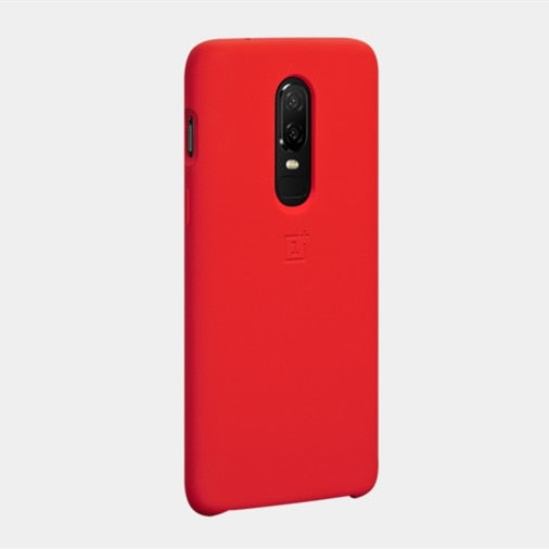 100% Official Silicone Back Cover For Oneplus 6 Case Oneplus6 Phone Shell Cases And Covers Original Accessories