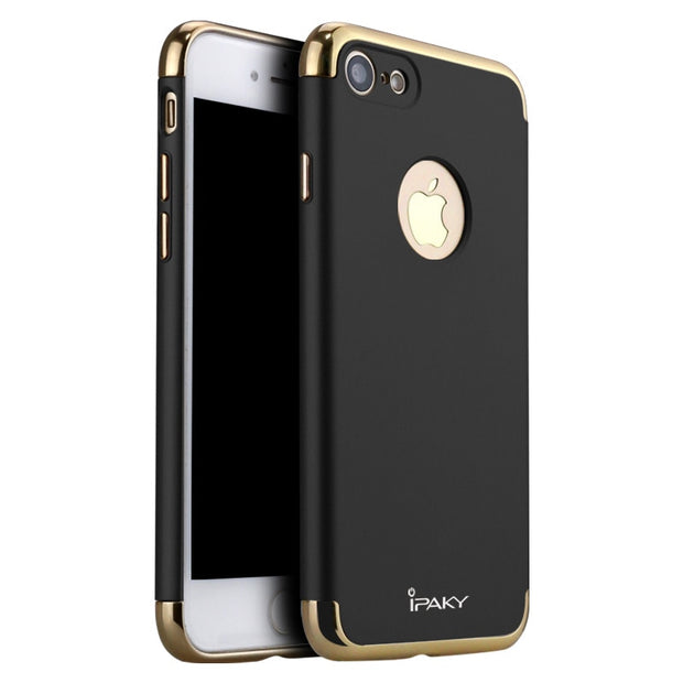 100% Original IPAKY Brand 3 IN 1 Design Classic Hard Plastic Case For Iphone 7 And For Iphone 7 Plus Luxury Plastic Cover