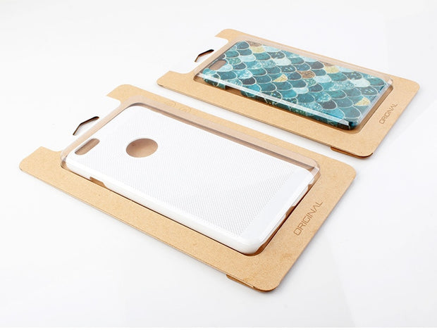 100 Pcs Wholesale Custom Logo Universal Kraft Paper Packaging Box For IPhone 6s 6 Plus Protective Cell Phone Case