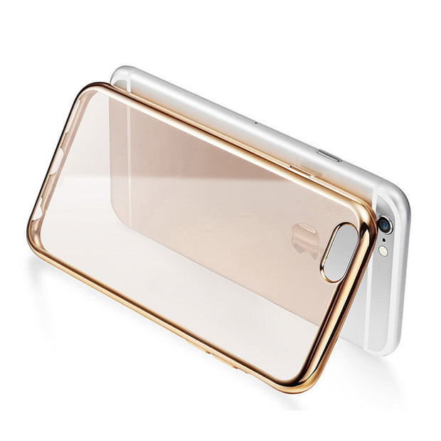 100 Pcs Wholesale Luxury Clear Phone Case For IPhone 6 Phone Cases Dirt-proof Soft TPU Transparent Cover Cell Phone Cover