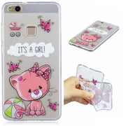 100pcs/lot For Huawei P10 Lite For IPhone 5 5G 6 6G 6S 7 7G Plus Ultra Thin Dream Catcher Cat Girl Bear Panda TPU Back Case