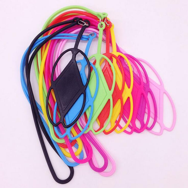 "10pc 3.5-6"" Universal Necklace Lanyard String Silicone Phone Case For Iphone 5s 6s 7 8plus Sumsung S6 S7 Edge Sport Mobile Strap"