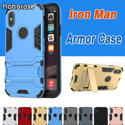 10pcs 2 In 1 Kickstand Iron Man Hybrid Stand Holder Case For IPhone XS Max XR X 8 7 6 6S Plus Rugged TPU+PC Hard Armor Cover