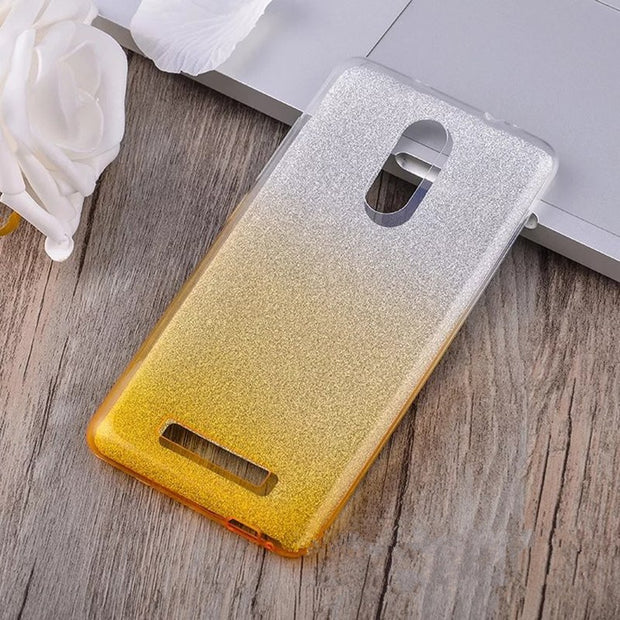 10pcs 3 IN 1 Gradient Bling PC+Soft TPU Case For Xiaomi Mi8 SE 6 5S Plus A2 A1 Redmi 6A Pro Note 5A 4X S2 Glitter Clear Cover