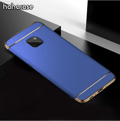 10pcs 3 In 1 Splicing Hard Matte Plating PC Case For Huawei 20 Lite 10 9 Pro 8 Nova 3i 3E 2 Plue 2i Lite Shockproof Full Cover