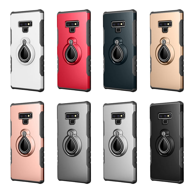 10pcs Armor Kickstand Case For Samsung Galaxy A3 A5 A7 A8 2017 2018 Magnetic Finger Ring Duty Hybrid Plastic Shockproof Cover