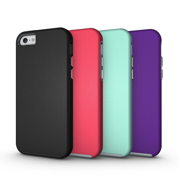 10pcs A Lot Full Protection Back Cover Shockproof Anti Slip Silicone Case For IPhone 5S SE 6/6S Plus