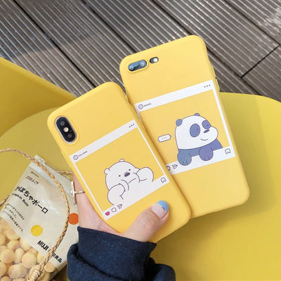 10pcs/lot Cute Animal Mobile Phone Case For IPhone 6 6s 7 8 Plus XS Max XR X Bright Color Soft TPU Solid Back Cover Lovely Gifts