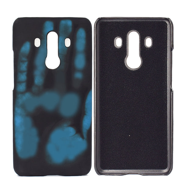 10pcs/lot For Huawei Mate 10 Discoloration Thermal Sensor Case For Huawei P20 Mate 20 Pro Lite Heat Sensitive Phone Back Case