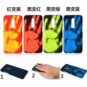 10pcs/lot For Oneplus 6 Case Thermal Sensor Heat Sensitive Case Cover Color Change For Oneplus 6 Phone Fundas