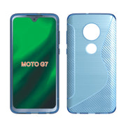 10pcs/lot S Line Brushed Silicone Soft TPU Gel Back Cover Skin Bag For Moto G7 P30 Note One Power Z2 Z3 E5 Play Phone Funda Case