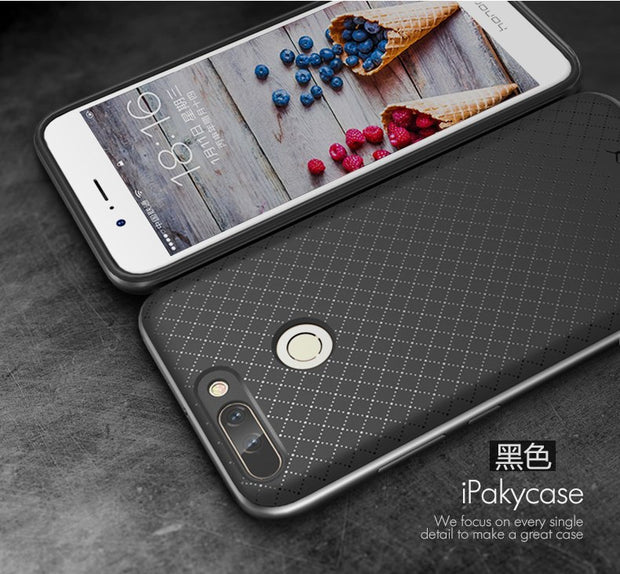 10pcs/lot Free ShippingHybrid 2 In 1 PC Bumper+TPU Back Case For Huawei Honor 8 Pro/v9