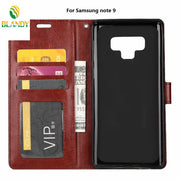 10pcs/lot Phone Leather Case For Samsung Note 9 Soft TPU + PU Leather Crazy Horse Wallet Case For Samsung S9 Plus