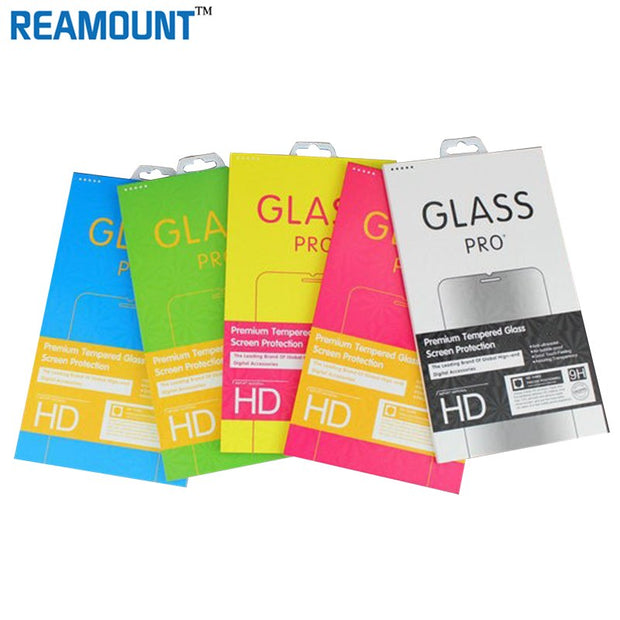 200pcs Wholesale Retail Paper Retail Package Packaging Box For IPhone Samsung Tempered Glass Screen Protector DHL Free